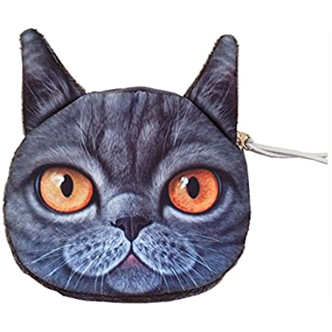 Daojian lindo monedero del gato postal carpeta de la moneda del bolso del caso