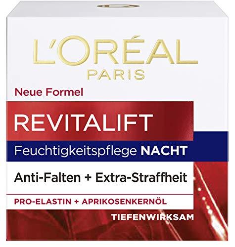 Loreal Anti-falten (L'Oréal Paris Revitalift Nachtpflege, mit Pro-Elastin und Aprikosenkernöl, glättet Falten über Nacht, 50 ml)