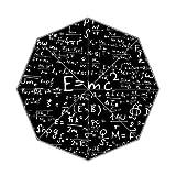 Custom Albert Einstein E = MC2Regenschirm–Auto faltbar Regenschirm 100% Polyester