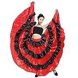 Costume da Sala da Ballo di Flamenco con Gonna Taurina Spagnola Rossa E Nera