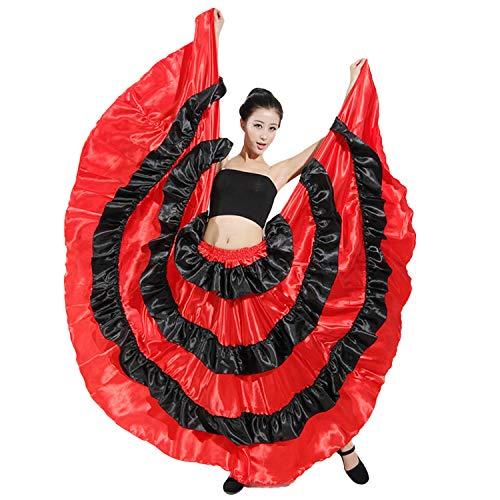 LOLANTA Roter schwarzer spanischer Stierkampf-Rock der Frauen (Gypsy Kostüm Frauen)