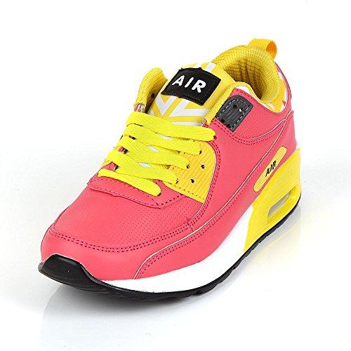 Scarpe da corsa Air da urti, sportivi, per palestra, misura: 36 Pink & Yellow