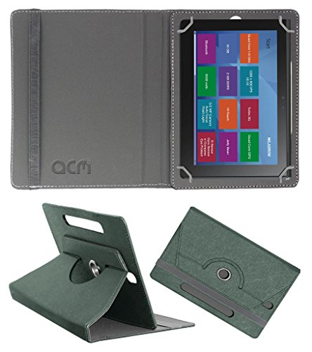 Acm Designer Rotating Leather Flip Case for Milagrow M8 Pro Cover Stand Grey  available at amazon for Rs.219