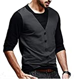 #1: Try This Cotton , Casual , Partywear Waistcoat Style T Shirt For Men And Boys