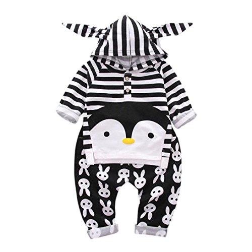 Igemy Kleinkind Kinder Baby Jungen Pinguin Kaninchen bedruckte Oberteile + Hosen Outfit Kleider Set (100, (Outfit Pinguin)