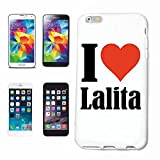 Handyhülle iPhone 7+ Plus I Love Lalita Hardcase Schutzhülle Handycover Smart Cover für Apple iPhone … in Weiß …