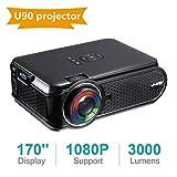 UKSoku U90 Mini Beamer Full HD 1080p Video LED Projektor