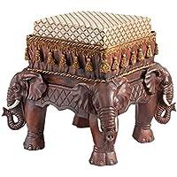 Progettazione Toscano NG33063 1 posti L'elefante del maharaja modellato sgabello aufgepolsterte