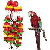 STAJOY Jouets à mâcher pour Oiseaux, Cage à Perroquet, Jouets à Suspendre, Accessoires pour Cage d'oiseaux, eclectus, cacatoès, Conures et Jolis Oiseaux