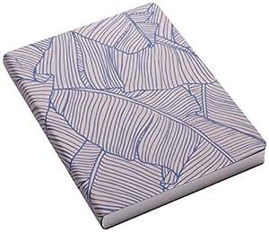 Nuuna Graphic L Carnet Couverture à motifs feuilles de bananier Bleu