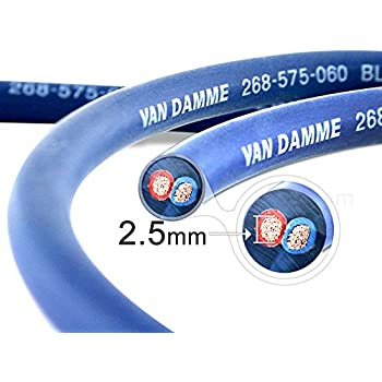 Van Damme Professional Blue Series Studio Grade 2 x 2.5 mm (14AWG) – 25 m Speaker Cable