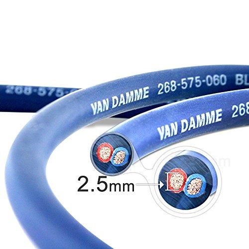 Lot Vga-anschluss (Van Damme Professional Blue Series Studio Grade 2 x 2,5 mm (2 Kerne) Lautsprecherkabel 268-525-060 3 Meter / 3m)