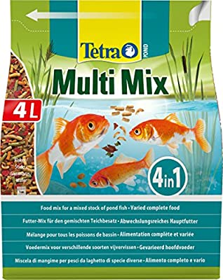 Tetra Pond Multi Mix, Complete Varied Fish Food for A Mixed Stock of Pond Fish, 4 Litre