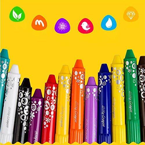 Per Per Per Crayon en Cire Lavable Crayons de Couleurs  s Étui Carton à Dessin Crayons à la Cire Peinture à l'Huile 12/18/24/36 Couleurs ce5cc3