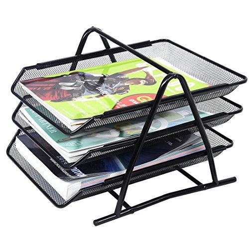 Dokumentenablage -Tabletts Holder - TOOGOO(R) Office-Filing-Tabletts Holder A4 Dokument Brief Papier Maschendraht-Speicher-Organisator