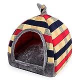 Hanshu 2in 1Pet House und Sofa Innen Weich Warm Waschbar Iglu Pyramide Katze Hund Betten
