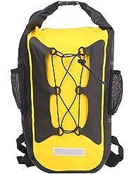 Esone - Noche Reflectante Bolsa Seca Impermeable / Unisex Mochila Aire Libre / Morral que Acampa / Bolsas Viaje / Paquete de Admisión / Surf Natación Esquí Pesca (amarillo)