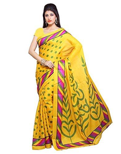 Sarees (Nisha Creation Women\'s Clothing Saree Collection in Multi-Coloured Art Silk Saree)
