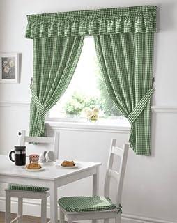 gardinen weiß grün