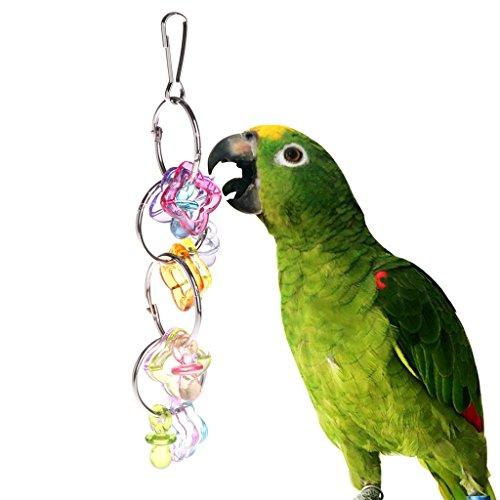 Autone Parrot Kauen Bite Toys, bunt, Acryl Ringe Vogel Sittich Aufhängen Käfig Sitzstange -