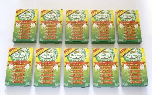 500sacchetti biodegradabili per i bisognini del cane, 10 confezioni, 100% biodegradabili e compostabili