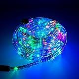 Smartfox LED Lichterschlauch Lichterkette Licht Schlauch 20m für Innen- und Aussenbereich mit 480 LEDs in bunten Farben mit 8 Leuchtmodi