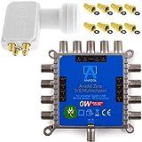 Bild des Produktes 'Anadol Zero Watt 5/8 - ECO - Stromloser Multischalter inklusive Quattro LNB für 8 Teilnehmer - Geringe Stromaufnahm'