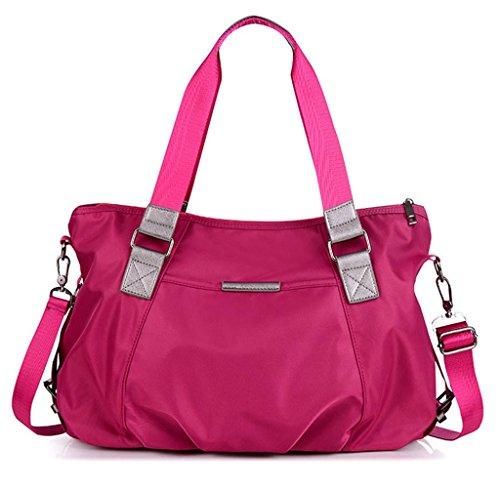 Auspicious beginning Frauen neuen Stil Nylon mit hoher Kapazität reisen rot Umhängetasche Handtasche Rot