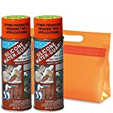 Sno Seal Silicone Water Guard, DOPPELPACK: 2x Outdoor Imprägnierspray Imprägniermittel, 350 ml - für Jacken Hosen Schuhe Zelte + Kulturbeutel