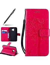 Preisvergleich für Handyhülle für Samsung Galaxy J2 Pro 2018, Handytasche Bookstyle Klappbar Flip Case Tasche Leder Brieftasche Etui...