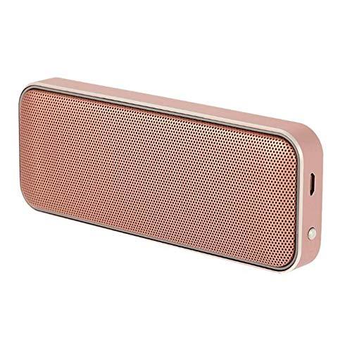 Bluetooth Altavoz inalámbrico Cuadrado Doble Cuerno Mini Bolsillo portátil Metal Ultrafino Delicado...