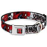 Buckle Down 22,9–38,1cm spdu-Ultimate Spider-Man Face/Web Full Color Hund Halsband