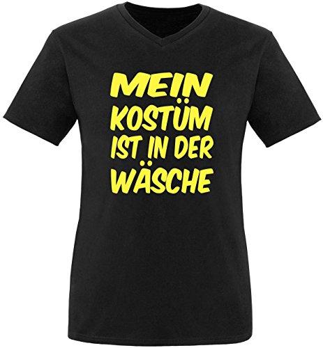 Luckja Mein Kostüm ist in der Wäsche Herren V-Neck T-Shirt Schwarz/Gelb