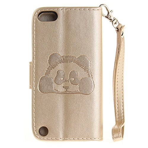 iPhone Case Cover Normallack 3D Netter Panda prägte PU-lederne Fall-Abdeckung mit Lanyand Karten-Schlitzen für IPod-Note 5 6 ( Color : 8 , Size : IPod Touch 5 6 ) 1