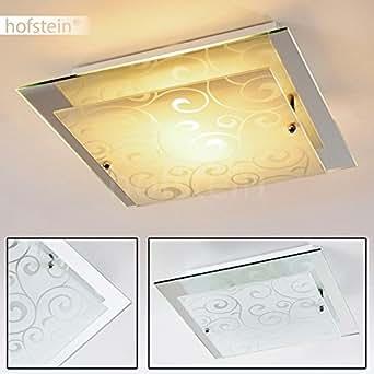 Deckenleuchte quadrat aus glas quadratischer deckenspot for Deckenleuchte wohnzimmer e27