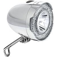 BV Luce Anteriore Bici, Faro Bicicletta Super Bright LED, Impermeabile Luce Anteriore Bici Anteriore (Argento)