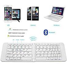 Rii K09 Teclado plegable Bluetooth para iOS, Android, Windows, PC, Tablets y Smartphones. Color Plateado