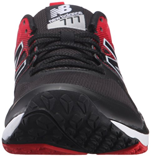 New Balance Men's 777v2 Training Shoe, Black/Red, 10 2E US Black/Red