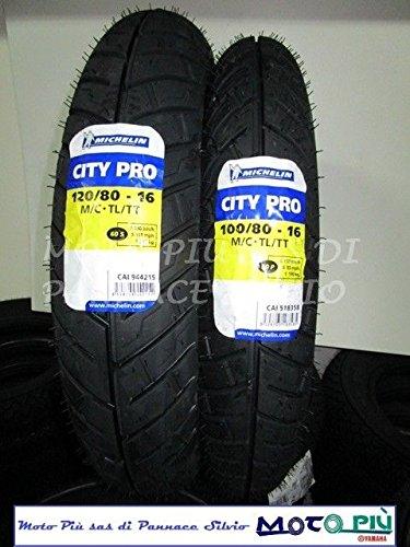 110//80/ Paire de pneus MICHELIN CITY PRO 90//80/ /14 Piaggio Liberty 50/125/150 /16/
