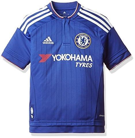adidas Jungen Kurzarm Heimtrikot FC Replica, Chelsea Blue/White/Power Red, 128, S11681
