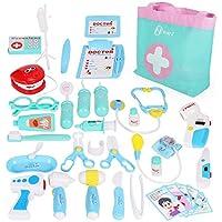 NextX Jeux d'imitation Jouet Docteur 35 Pcs Kits de Déguisement Enfants