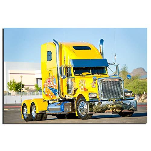 Eleanor Freightliner Truck Poster Car Poster, Impresiones de Arte en  Lienzo, Decoraciones para el hogar Pinturas Decorativas sin Marco 40x60cm