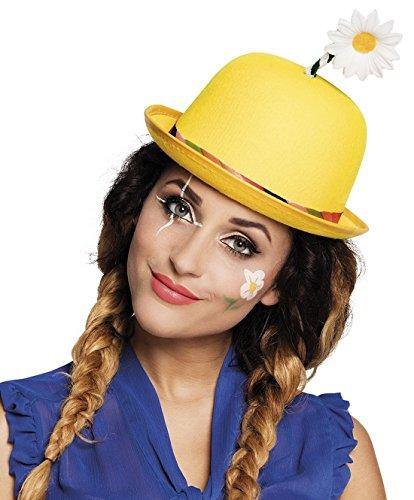 erdbeerclown - Karneval Kostüm Hut Clown Melone Bowler Daisy, ()