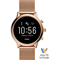 Fossil Julianna Hr Women's Multicolor Dial Stainless Steel Digital Smartwatch - FTW6062