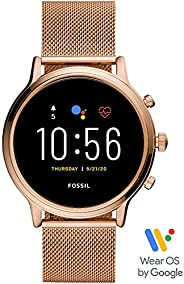 Fossil Gen 5 Julianna Stainless Steel Touchscreen Smartwatch with Speaker, Heart Rate, GPS, NFC, and Smartphon