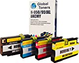 COMBO PACK - Remanufactured HP950XL & HP951XL With Chip Ink Cartridges for HP Printers Officejet Pro 8600 Premium Plus All-in-One 8100 e-All-in-One - ONE SET