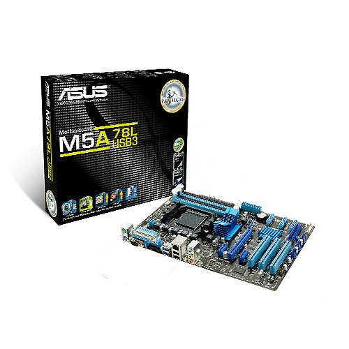 Preisvergleich Produktbild Asus M5A78L/USB3 Mainboard SocketAM3+ (ATX AMD 760G/780L, 4x DDR3 Speicher, 2x USB 2.0)