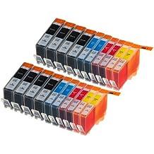 20 Multipack de alta capacidad HP 920 Cartuchos Compatibles 8 negro, 4 ciano, 4 magenta, 4 amarillo para HP Officejet 6000, Officejet 6500 AIO WL E710N, Officejet 6500 Wireless, Officejet 7000 E809A, Officejet 7500 WF AIO E910A, Officejet 6500 AIOS, Officejet 7000 Wide Format. Cartucho de tinta . CD972AE , CD973AE , CD974AE , CD975AE © 123 Cartucho