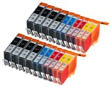 20High Capacity Multipack HP 920Ink Cartridges Compatible 8Black, 4ciano, 4Magenta, 4Yellow for HP Officejet 6000, Officejet 6500AIO WL E710N, Officejet 6500Wireless, Officejet 7000E809A, Officejet 7500WF AIO E910A, Officejet 6500AIOS, Officejet 7000Wide Format. Ink Cartridge. CD972AE, CD973AE, CD974AE, CD975AE © 123Cartridge image