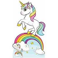 Star Cutouts Ltd Rainbow Unicorn 163cm de Haut/1,5m 3en Gratuit Mini Destop Découpe